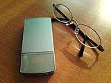 新眼鏡と携帯