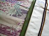 藤模様の単衣と帯