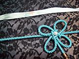 青色の帯揚&帯締