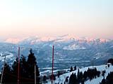 ホワイトピア 山頂の朝焼け